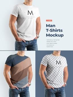 Mann t-shirt modell