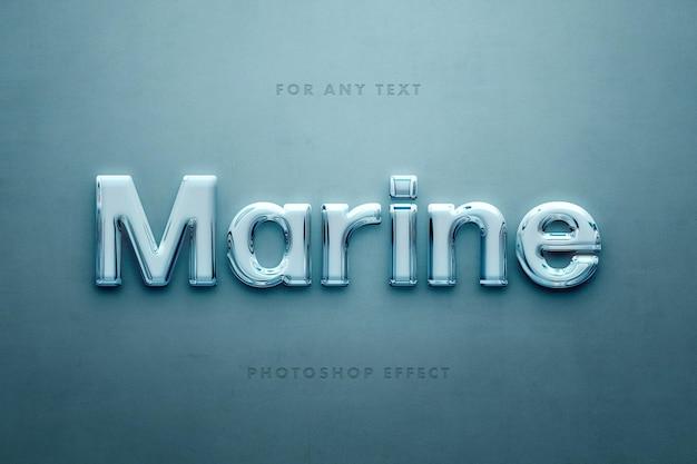 Marine glas 3d-texteffekt