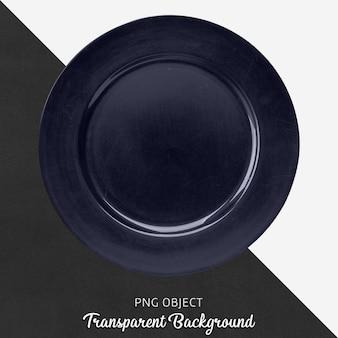 Marineblaue runde serviceplatte auf transparentem hintergrund