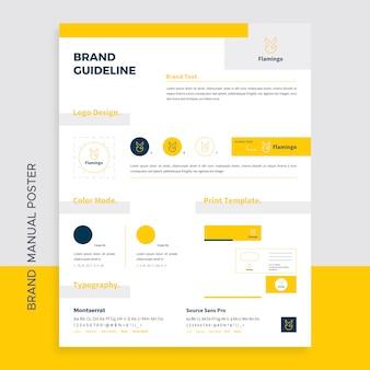 Markenhandbuch poster vorlage