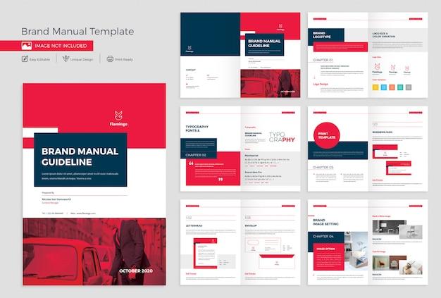 Markenhandbuch template design