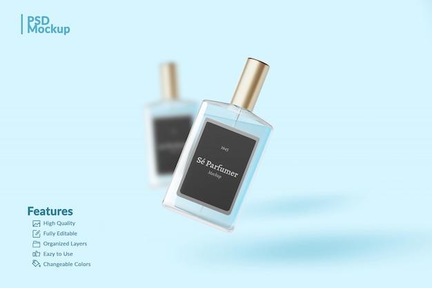 Markenparfümflasche bearbeitbares modell