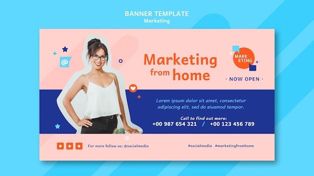 Marketing-banner-vorlage mit foto