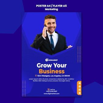 Marketing business poster vorlage