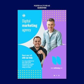 Marketing-druckvorlage mit foto