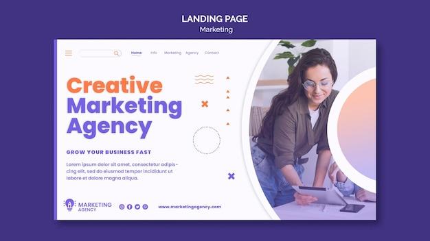 Marketing-landingpage-vorlage