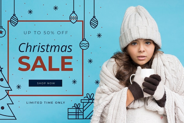 Marketingkampagne mit weihnachtsangeboten