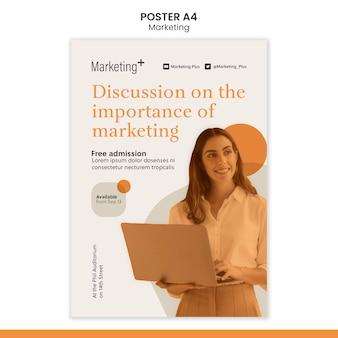 Marketingplakatschablone mit foto