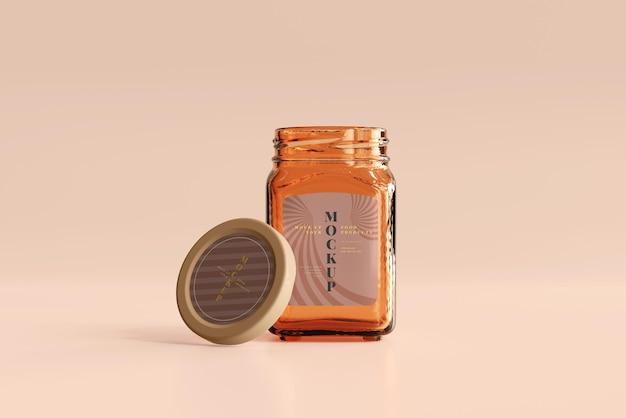 Marmeladenglas-mockup