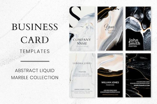 Marmor-visitenkarten-vorlage psd in der luxus-stil-kollektion