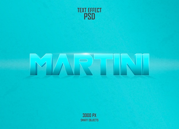 Martini-texteffekt