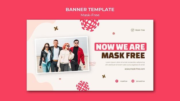 Maskenfreie bannervorlage
