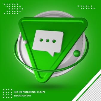 Massage logo button symbol 3d-rendering