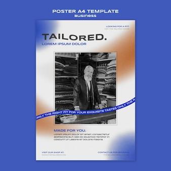 Maßgeschneiderte plakatvorlage