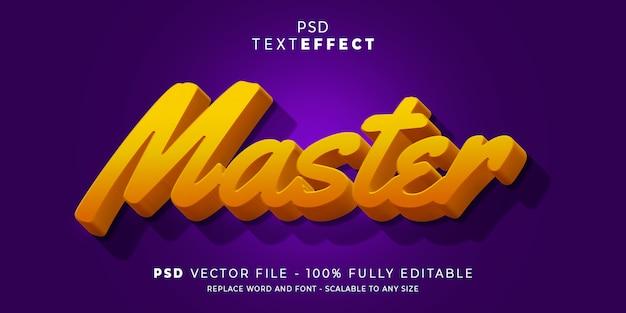 Master-texteffekt