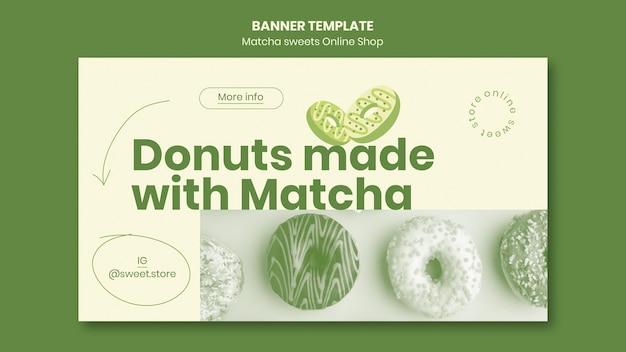 Matcha süßigkeiten banner vorlage