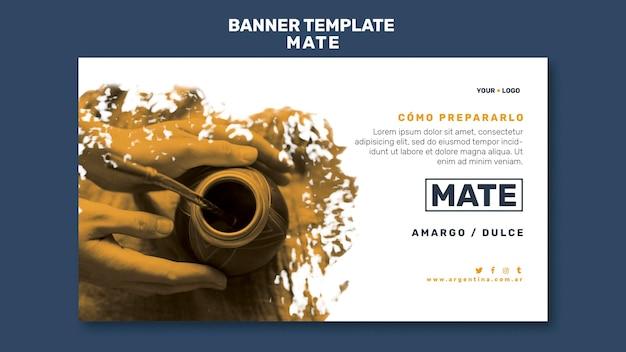Mate-konzept-banner-vorlage