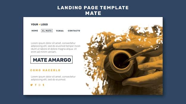 Mate-konzept-landingpage-vorlage