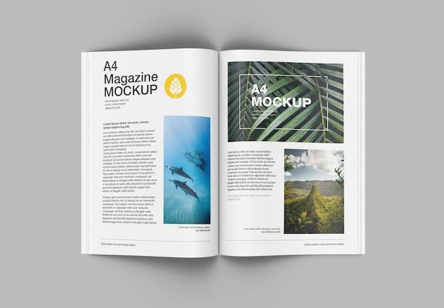 Matte magazine mockup draufsicht