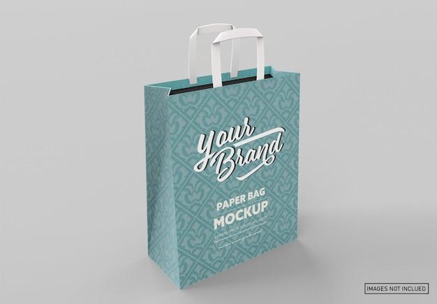 Matte paper bag mockup