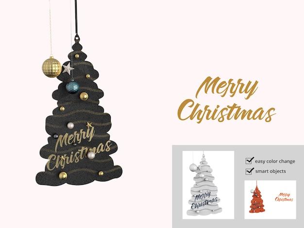 Mattes weihnachtsbaumspielzeug-modell isoliert