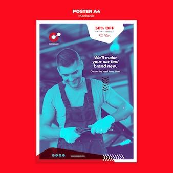 Mechaniker poster vorlage thema