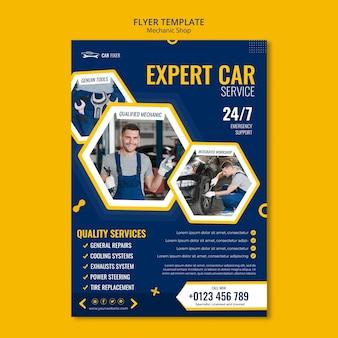 Mechaniker shop flyer vorlage