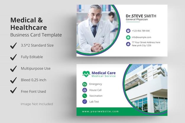 Medical healthcare visitenkarte vorlage