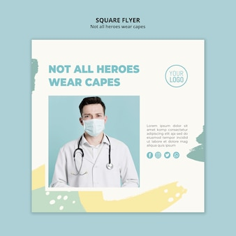 Medical professional square flyer