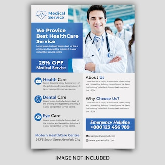 Medicalhealthcare flyer vorlage