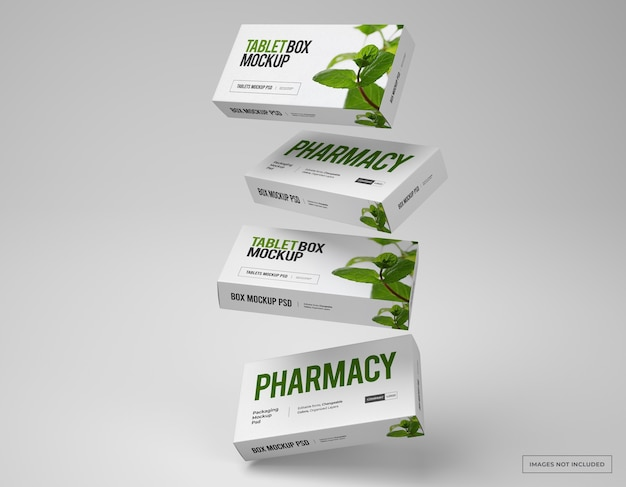 Medikamenten-branding und verpackungsmodell