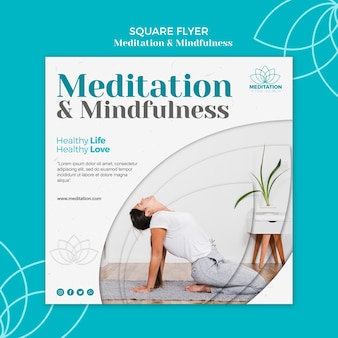 Meditationsflyer-schablonendesign