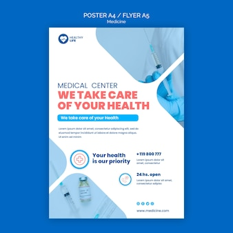 Medizin covid19 flyer vorlage