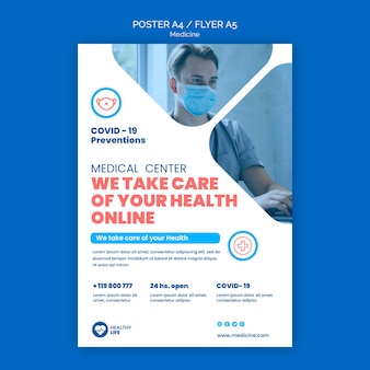 Medizin covid19 prävention poster vorlage