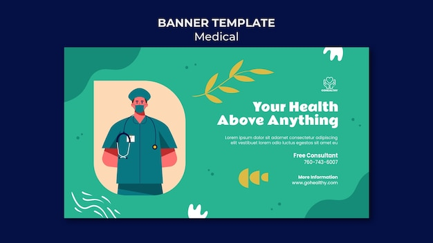 Medizinische bannervorlage