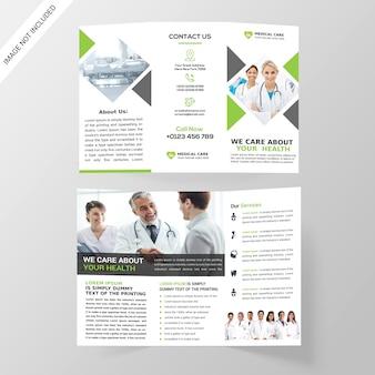 Medizinische dreifachgefaltete broschüre
