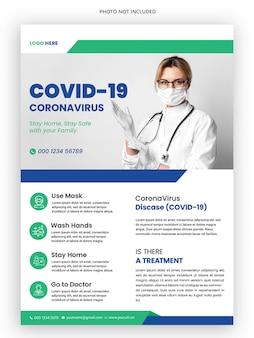 Medizinische flyer-vorlage der coronavirus-kampagne