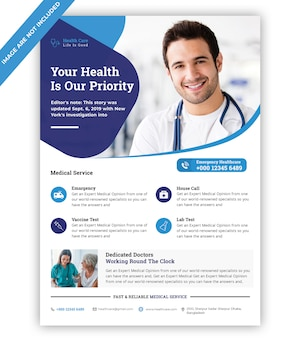 Medizinische flyer vorlage