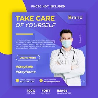 Medizinische gesundheit banner über coronavirus