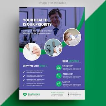 Medizinische gesundheitsversorgung flyer vorlage