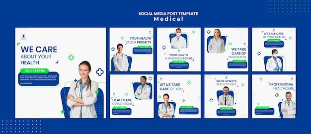 Medizinische hilfe social media post