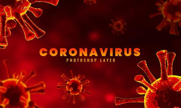 Medizinische mikroskopische koronaviruszellen schließen hintergrund-3d-rendering