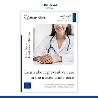 Medizinische plakatschablone mit foto