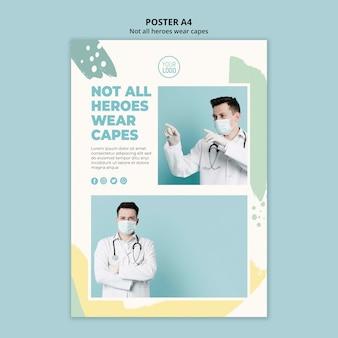 Medizinischer professioneller plakatstil