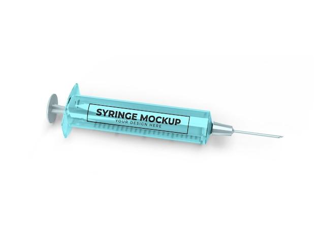 Medizinisches spritzen-modell-design isoliert