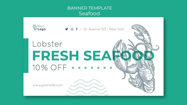 Meeresfrüchte-konzept-banner-vorlage
