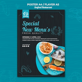Meeresfrüchte restaurant poster design