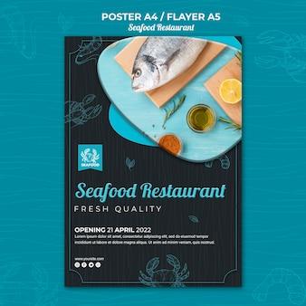 Meeresfrüchte restaurant poster vorlage