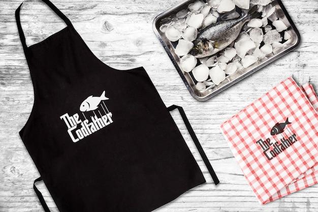 Meeresfrüchte-restaurant-schutzblech-modell