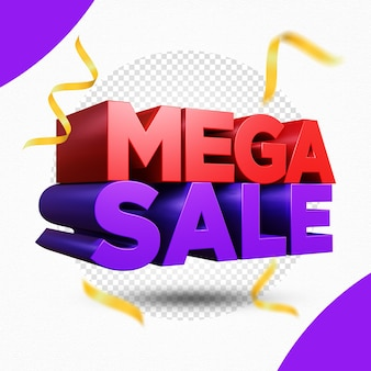 Mega sale 3d-rendering-design isoliert